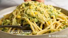 #rosehillrestaurant #zucchini recipe #zucchini noodles #zucchini pasta #zucchini tools #creamy zucchini; Healthy Noodle Recipes, Zucchini Pasta Recipes, Best Vegetable Recipes, Recipe Zucchini, Pasta With Zucchini Sauce, Zucchini Noodles, Healthy Meals, Clean Eating Meal Plan, Clean Eating Recipes
