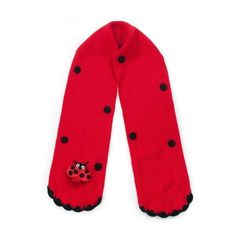 Outlet Kidorable Lady Bug Knit Scarf