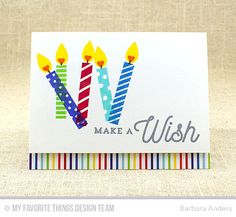 Handmade card from Barbara Anders featuring Make a Wish Card Kit #mftstamps