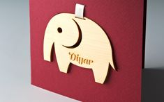 New baby greeting card New Baby Greetings, Cover Pages, Laser Engraving, Paper Shopping Bag, New Baby Products, Elephant, Greeting Cards, Design, Gift Cards