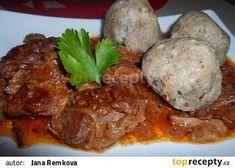 Kančí po cikánsku recept - TopRecepty.cz Ham, Pork, Beef, Ethnic Recipes, Foods, Red Peppers, Kale Stir Fry, Meat, Food Food