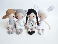 Cute Ragdoll Cloth Doll Fabric Doll Softie by CreepyandCute