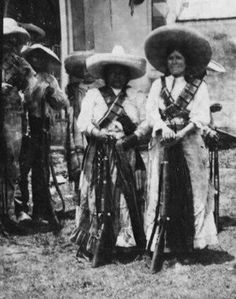 """""""La Adelita"""" came to be an archetype of a woman warrior in Mexico during the Mexican Revolution. An Adelita was a soldadera, or woman soldier, who not only cooked and cared for the wounded but also actually fought in battles against Mexican government forces. In time the word adelita was used for all the soldaderas, who became a vital force in the revolutionary war efforts. The term La Adelita has since come to signify a woman of strength and courage."""