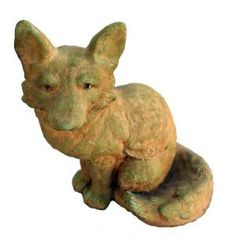 Cast Stone Fox Garden Statue - Weathered Bronze-GNFOX-WB at The Home Depot