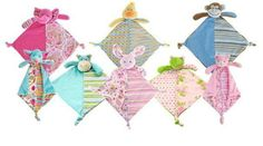 Baby Comforters, Lily and George, Knotted Animal comforters, great baby gifts! Super soft plush with funky patterned fabrics! Baby Shower Gifts, Baby Gifts, Baby Comforter, Parenting Toddlers, Twin Girls, Animal Faces, Soft Blankets, Baby Online, Online Gifts