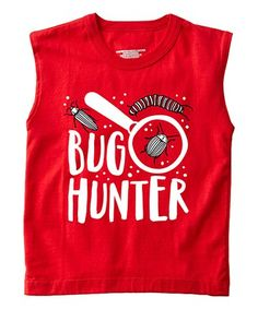 Loving this Red 'Bug Hunter' Muscle Tee - Toddler & Boys on #zulily! #zulilyfinds