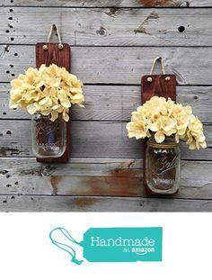 Tennessee Wicks Handcrafted Rustic Mason Jar Wall Sconce, Set of 2 from Tennessee Wicks https://www.amazon.com/dp/B018WKUV0I/ref=hnd_sw_r_pi_dp_WU4iyb092FSYW #handmadeatamazon