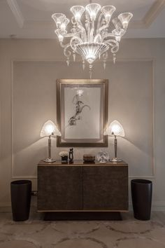 Baccarat Mille Nuits chandelier.