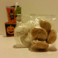 Halloween favors. 4 cookies in a mini box.  $1.50 each or $20 for 16.