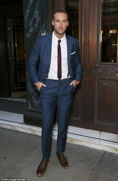 Ladies man: Calum, 34, is the son of legendary British footballer George Best and splits his time between London and LA. He is pictured in London in September