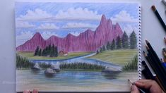 89 Best Drawing A Landscape Images In 2020 Landscape Drawings Draw