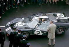 jacqalan:  1966 Le Mans Winners: Chris Amon, Bruce McLaren , Ford GT40.