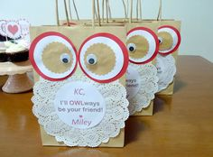 DIY Owl Loot Bags  Pinned by www.myowlbarn.com