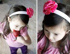 No-Sew Fabric Flower Headbands & Clips