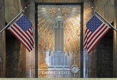 Eingang von Empire State Building, Manhatten, New York City, New York, USA