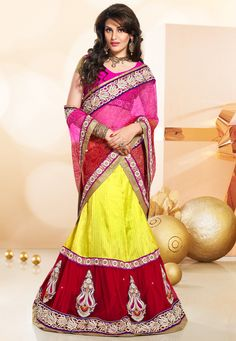 #Yellow  #Red #Lehenga Choli