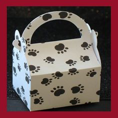 dog  puppy  paws candy gift  or favor boxes by tinygiftboxes, $1.50
