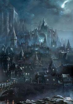 FantasyArt Artwork Irithyll of the Boreal Valley - Dark Souls III FromSoftware Dark Fantasy Art, Fantasy Artwork, Fantasy Kunst, Fantasy Concept Art, Fantasy Art Landscapes, Fantasy City, Fantasy Castle, Fantasy Places, Fantasy Landscape