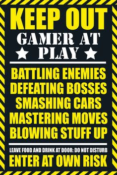 Gaming Keep Out Gamer at Play - Official Poster