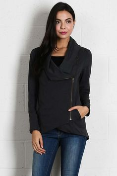 Jetset Cardigan in Charcoal