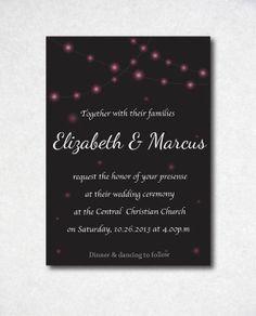Romantic hanging lights wedding invitation by MySweetCasa on Etsy, $15.00