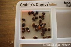 Pour a layer of resin with the whole coffee beans Types Of Coffee Beans, Buy Coffee Beans, Fresh Coffee Beans, Nyc Coffee Shop, Expresso Coffee, How To Make Resin, Coffee Health Benefits, Diy Resin Crafts, Chocolate Shavings