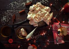 Na życzenie Justyny :) - Ryż zapiekany z jabłkami i bezą - baked rice with apples and meringue http://kingaparuzel.pl/blog/2013/12/ryz-zapiekany-z-beza/ #recipe #ilovefood
