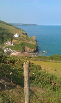 Llangrannog, a small seaside village in Ceredigion, West Wales - many memories of holidays spent here
