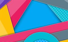 Download wallpapers multicolored abstraction, lines, material design, Android