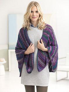 Lion Brand: Multidirectional Shawl - free crochet pattern by Teresa Chorzepa.