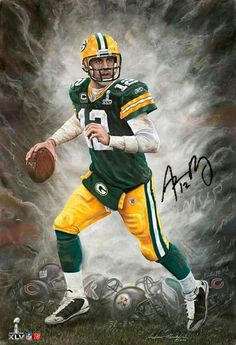 Green Bay Packers-Aaron Rodgers  A Run to Remember  by Andrew Goralski This  print is sold out! 09657cb0d