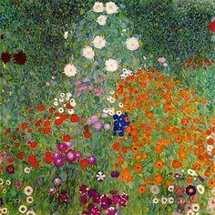 Gustav Klimt, Flower Garden, 1906 - 1908, oil on canvas