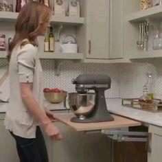 save some space in your kitchen Kitchen Cupboard Designs, Kitchen Room Design, Diy Kitchen Storage, Kitchen Cupboards, Modern Kitchen Design, Home Decor Kitchen, Interior Design Kitchen, Kitchen Organization, Kitchen Cabinet Layout