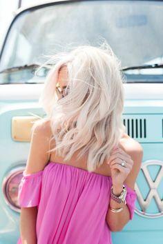 Pink Off the Shoulder Set - Mckenna Bleu