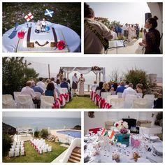 Akrotiri villa with stunning sea views Crete, Real Weddings, Wedding Planner, Villa, Wedding Planer, Fork, Villas, Wedding Planners