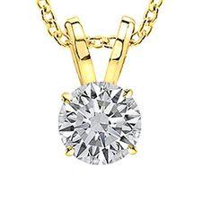 Diamond Solitaire Pendant Necklace Clarity – Modern Jewelry