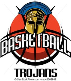 Vector - trojans basketball - stock illustration, royalty free illustrations, stock clip art icon, stock clipart icons, logo, line art, EPS picture, pictures, graphic, graphics, drawing, drawings, vector image, artwork, EPS vector art