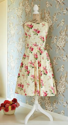 French darted dress - free pattern