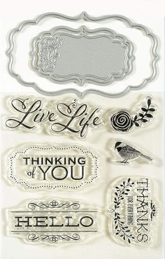 Love Hello Stamp, Die Cut & Emboss Set by Momenta (4008934)
