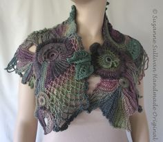Freeform Crocheted Cape