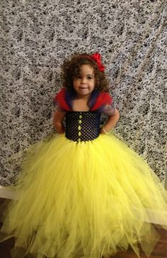 HANDMADE Snow White Disney Princess High Quality Super Soft Tulle Tutu Halloween Costume Dress Skirt Girls Baby Dress-Up Custom Crochet
