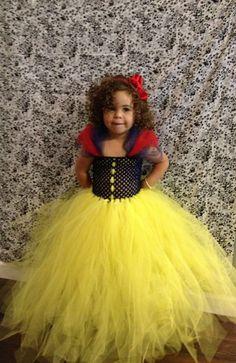 HANDMADE Snow White Disney Princess High Quality Super Soft Tulle Tutu Halloween Costume Dress Skirt Girls Baby Dress-Up Custom Crochet
