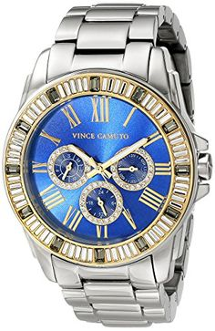 Women  Watches - Vince Camuto Womens VC5159BLLG MultiFunction Blue Dial Light Grey Bracelet Watch -- Click image for more details. (This is an Amazon affiliate link)