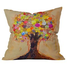 Elizabeth St Hilaire Nelson Summer Tree Pillow: Perfect way to add a pop of color in a bedroom