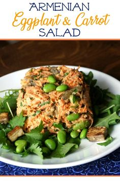 Eggplant & Carrot Salad - a simple alternative that tastes great, cuts the fat to almost nothing, and is very easy to make. Green Salad Recipes, Best Salad Recipes, Salad Dressing Recipes, Asian Recipes, Healthy Recipes, Asian Desserts, Fall Recipes, Summer Recipes, Ethnic Recipes