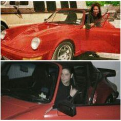 Selena Quintanilla Perez in her car. Chris Perez in Selena's car at her museum during Fiesta de la Flor April 17, 2015