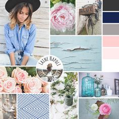 Farmhouse meets country chic. Lovely inspiration board for a local florist. www.lainenapoli.com
