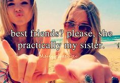 That is so totally me and my BFF
