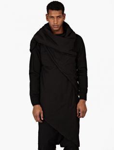 Rick Owens Drkshdw,Black Wrap-Around Down Gilet,BLACK,0