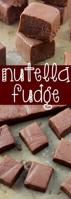 This Nutella Fudge is a SUPER fast recipe that your friends and family will ask for again and again!: